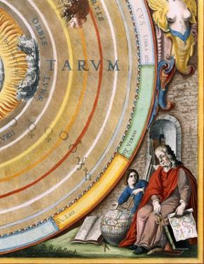 Detail  of an astronomer from Plate 1 from Harmonia Macrocosmica by Andreas Cellarius