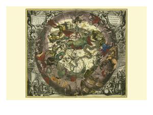 Haemisphaerium Sceno Graphicum Australe by Andreas Cellarius