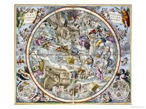 Map of the Christian Constellations as Depicted by Julius Schiller by Andreas Cellarius