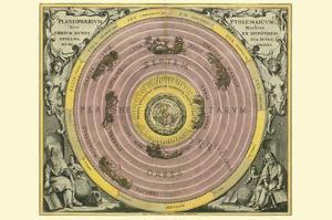 Planisphaerium Ptolemaicum by Andreas Cellarius