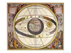 Representation of Ptolemy's System Showing Earth by Andreas Cellarius