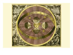Sceno Systematis Copernicani by Andreas Cellarius