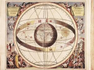 Scenographia Systematis Mundani Ptolemaici, Representation of the Ptolemaic Universe by Andreas Cellarius