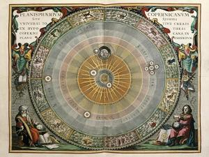 Universe on the Model of Copernicus with Sun in Center by Andreas Cellarius