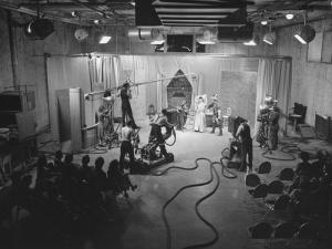 Acutual Program as Seen in Studio and over Television Set in Ge Studios, as it Is Being Monitored by Andreas Feininger
