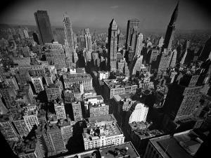 Aerial View of New York City Looking Uptown by Andreas Feininger