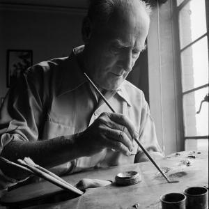 Artist Lyonel Feininger at Work by Andreas Feininger