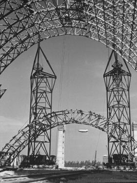 Blimp Hangar under Construction by Andreas Feininger