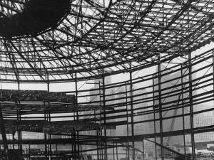 Cabo Hall Convention Arena Being Constructed by Andreas Feininger