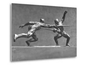 Cecil Howard's Sculpture of Two Men Fencing by Andreas Feininger