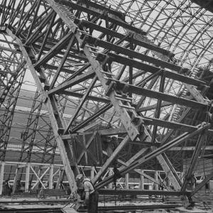 Construction of Blimp Hangar by Andreas Feininger