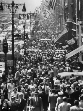 Crowds on Midtown Stretch of Fifth Avenue at Lunch Hour by Andreas Feininger