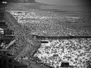 Crowds Thronging the Beach at Coney Island on the Fourth of July by Andreas Feininger