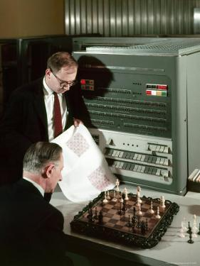 IBM Electronic Data Processing Machine, Type 704, Solving Chess Problems with a Data Processor by Andreas Feininger