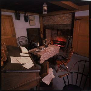 Kitchen Used by John Adams as a Law Office in His Farmhouse in Braintree, Massachusetts by Andreas Feininger