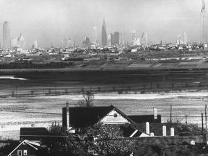 Manhattan Skyline from New Jersey by Andreas Feininger