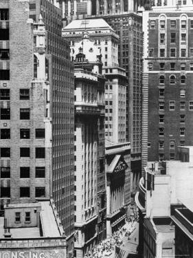 New York Stock Exchange Building Move About on Nassau St by Andreas Feininger