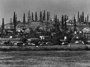 Oil Wells on Signal Hill, California. 1947 by Andreas Feininger