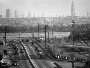 Panoramic of New York City Skyline Seen from New Jersey by Andreas Feininger