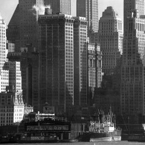 Panoramic View of Buildings in Lower Manhattan Taken from the New Jersey Banks of the Hudson River by Andreas Feininger