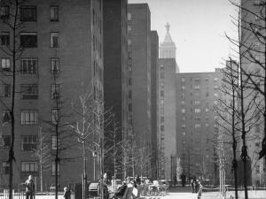 Peter Stuyvesant Village Housing Project by Andreas Feininger