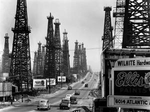 Ribbon of Highway Passing the Signal Hill Oil Field Near Long Beach by Andreas Feininger