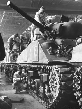 Sherman M4 Tank on Assembly at a Chrysler Plant by Andreas Feininger