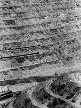 Strip Mining Operation at the Bingham Copper Mine by Andreas Feininger