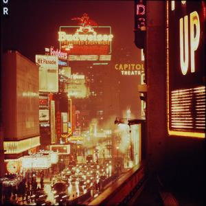 Times Square Lights by Andreas Feininger