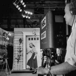 TV Camera Viewfinder on Actress Eva Marie Saint, Set of NBC Studio Drama by Andreas Feininger
