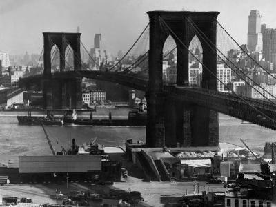 View of the Brooklyn Bridge Looking Toward Brooklyn by Andreas Feininger