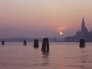 Italy, Veneto, Venice, Sunrise Above San Giorgio Maggiore by Andreas Keil