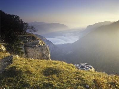 Switzerland, Swiss Jura, Creux Du Van, View from the Edge of the Creux Du Vans