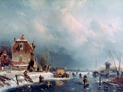 Frozen River, 1787-1870 by Andreas Schelfhout