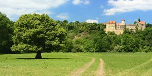Germany, Saxony-Anhalt, Burgenlandkreis, Goseck, Castle Goseck in the Saale Valley by Andreas Vitting