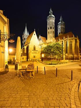 Germany, Saxony-Anhalt, Castle Naumburg, Night Photography, Cathedral Saint Peter and Paul by Andreas Vitting