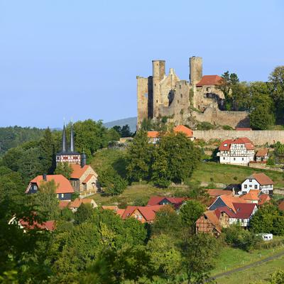 Germany, Thuringia, Eichsfeld (Region), Rimbach (District) and Castle Hanstein