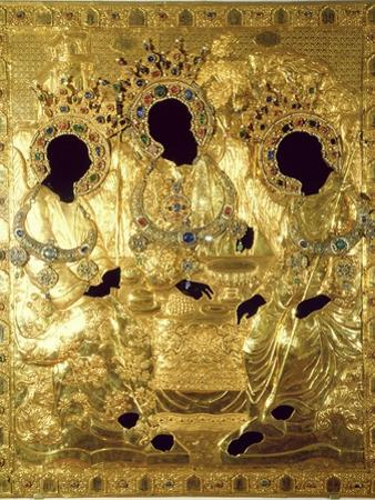 Oklad, or Cover of the Trinity Icon (Detail)