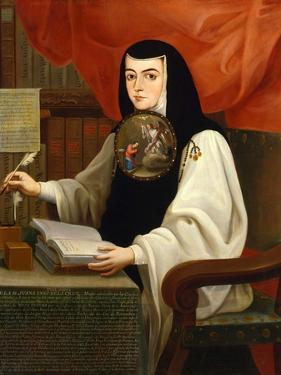 Juana Inés De La Cruz, 1772 by Andres De Islas