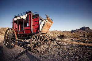Horse Drawn Wagon in the Mojave Desert. by Andrew Bayda