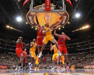 Chicago Bulls v Los Angeles Lakers: Derek Fisher by Andrew Bernstein