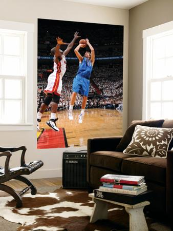 Dallas Mavericks v Miami Heat - Game One, Miami, FL - MAY 31: Dirk Nowitzki and Joel Anthony by Andrew Bernstein