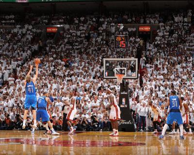 Dallas Mavericks v Miami Heat - Game Two, Miami, FL - JUNE 2: Dirk Nowitzki, Tyson Chandler and Chr by Andrew Bernstein