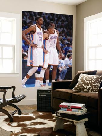 Oklahoma City, OK - June 2:  Kevin Durant, Russell Westbrook and Serge Ibaka by Andrew Bernstein