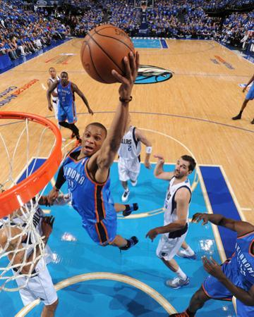 Oklahoma City Thunder v Dallas Mavericks - Game Two, Dallas, TX - MAY 19: Russell Westbrook, Tyson  by Andrew Bernstein