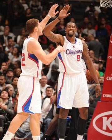 San Antonio Spurs v Los Angeles Clippers: Blake Griffin and DeAndre Jordan by Andrew Bernstein