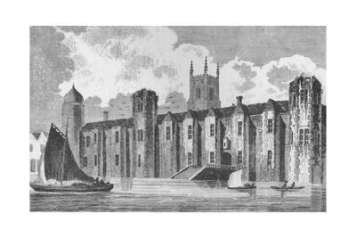 South front of Baynard's Castle, London, in about 1640, 1790 (1904)