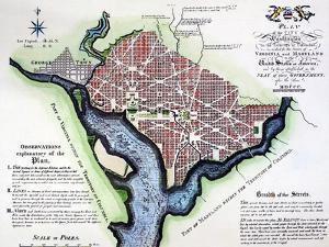 Washington, Dc, Plan, 1792 by Andrew Ellicott