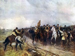 Oliver Cromwell and His Troops at Dunbar Singing the 118th Psalm, 1926 by Andrew Garrick Gow