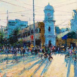 Clock Tower, Evening Light, Pondicherry, 2017 by Andrew Gifford